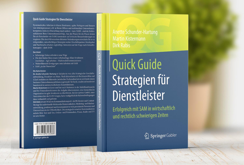 Buch: Strategien für Dienstleister. Cover Front- und Rückseite. Dirk Rabis